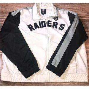 Oakland Raiders Womens Rookie Sequin Track Jacket